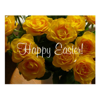 Rosa amarillo feliz de Pascua