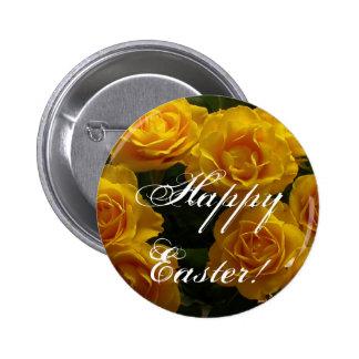 Rosa amarillo feliz de Pascua Pins