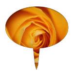 Rosa amarillo figura de tarta