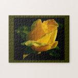 Rosa amarillo grande rompecabezas con fotos