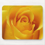 Rosa amarillo grande tapetes de ratón