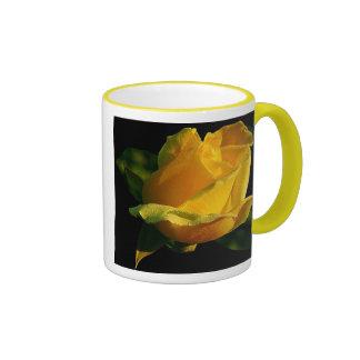 Rosa amarillo grande taza