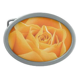 Rosa amarillo hebillas cinturon