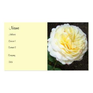 Rosa amarillo llamativo tarjetas de visita