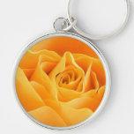 Rosa amarillo llavero