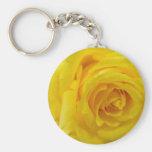rosa amarillo llavero personalizado