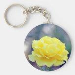 Rosa amarillo llaveros personalizados