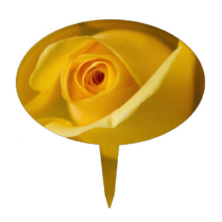 Rosa amarillo macro decoración de tarta