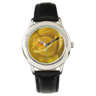 Rosa amarillo macro relojes