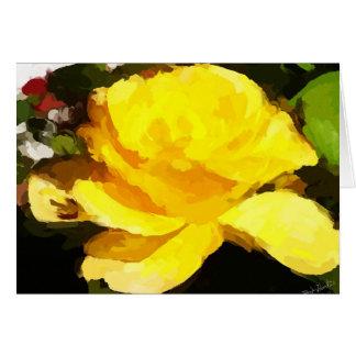 """Rosa amarillo """"pétalos de la alegría """" tarjeta pequeña"""
