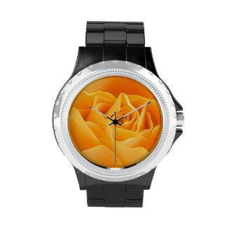 Rosa amarillo relojes de mano