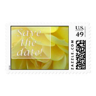 """Rosa amarillo """"reserva sello de la fecha"""""""