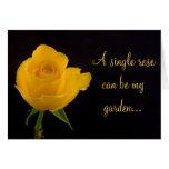 Rosa amarillo - saludo de la amistad felicitaciones