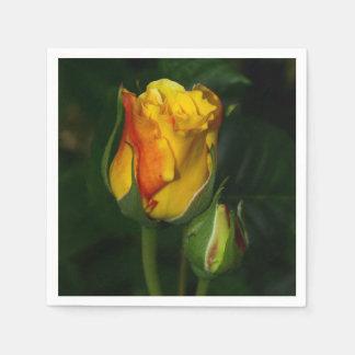 Rosa amarillo servilletas desechables