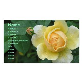 Rosa amarillo tarjetas de negocios