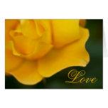 Rosa amarillo • Tarjeta de felicitación del el día
