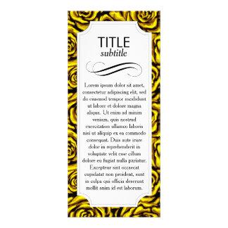 Rosa amarillo tarjeta publicitaria personalizada