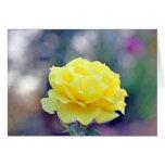 Rosa amarillo tarjeton