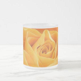 Rosa amarillo taza de cristal