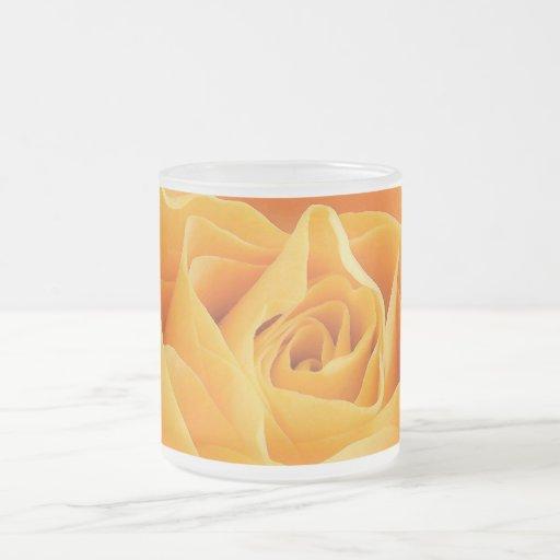 Rosa amarillo tazas