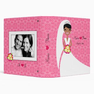 "rosa americano de la novia 311-African Carpeta 1 1/2"""
