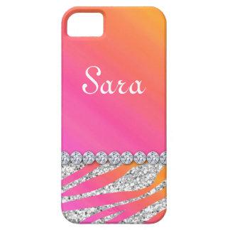 Rosa anaranjado lindo de la cubierta del caso del  iPhone 5 cárcasa