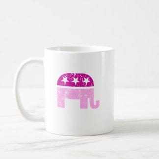 Rosa apenado elefante original republicano taza