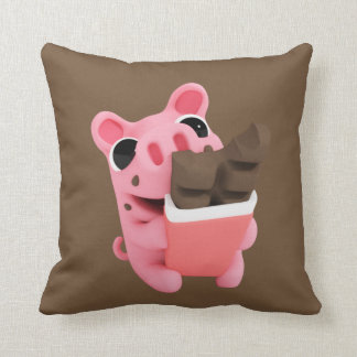 Rosa are a share chocolate throw pillow