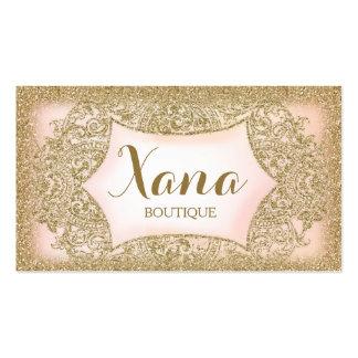 Rosa atractivo del brillo del oro de 311 vintages tarjetas de visita