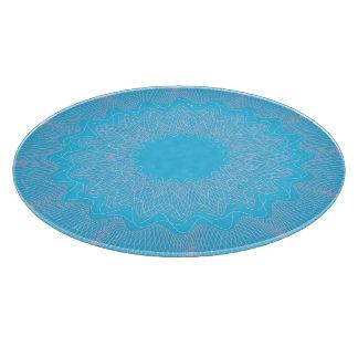 Rosa azul claro del modelo del guilloquis de la tablas para cortar