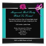 Rosa azul de la danza de la High School secundaria Invitaciones Personalizada