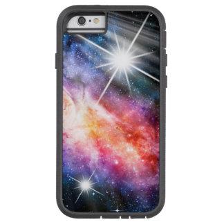 Rosa azul de la lavanda del oro de la nebulosa del funda tough xtreme iPhone 6