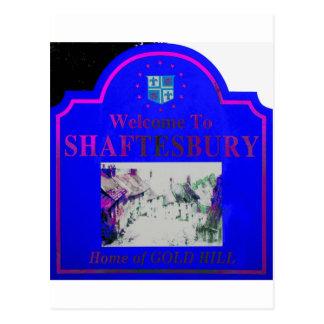 Rosa azul de Shaftesbury Tarjeta Postal