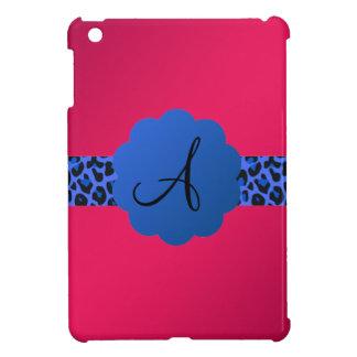 rosa azul del monograma de la raya del modelo del iPad mini protectores