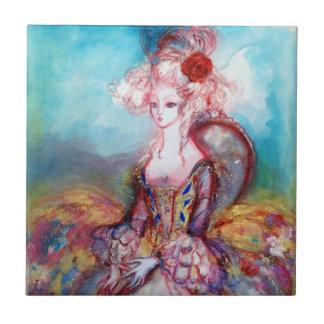Rosa azul del oro de SEÑORA POMPADOUR Azulejo Cuadrado Pequeño