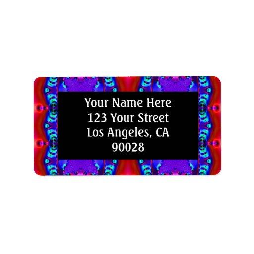 rosa azul rojo etiquetas de dirección
