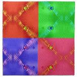 rosa azulverde rojo de los cuadrados coloridos servilletas
