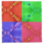rosa azulverde rojo de los cuadrados coloridos servilletas de papel