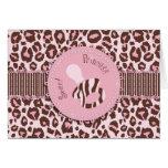 Rosa B de la tarjeta del chica del guepardo