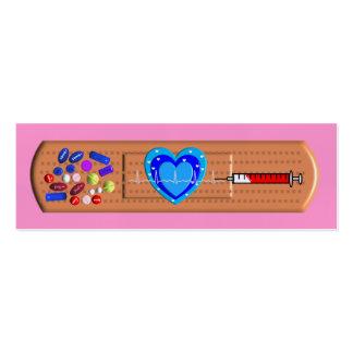 Rosa Bandaid grande médico de las tarjetas de visi