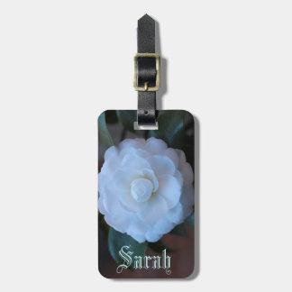 Rosa blanco adaptable etiquetas bolsa
