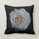 Rosa blanco cojin