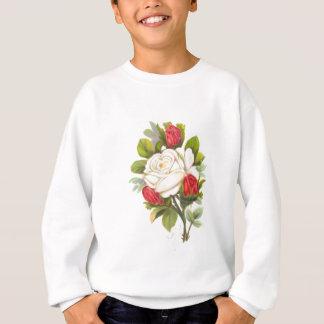 Rosa blanco con los brotes rojos remera