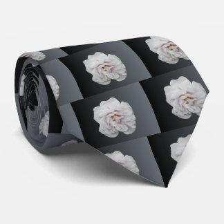Rosa blanco corbata personalizada