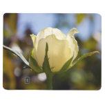 Rosa blanco cuaderno grapado