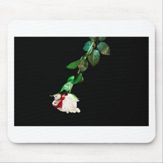 Rosa blanco cubierto con sangre tapete de ratones