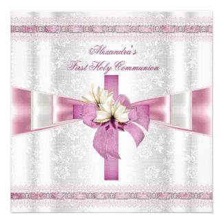 Rosa blanco de los primeros chicas cruzados de la  comunicados personalizados