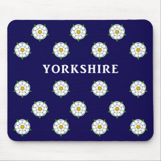 Rosa blanco de Yorkshire Mousepad Tapetes De Ratones