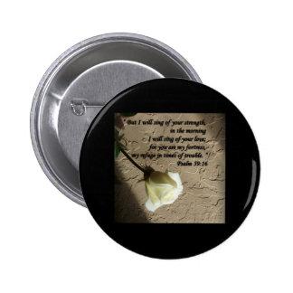 Rosa blanco del 59:16 del salmo pins