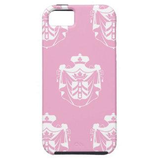 Rosa blanco del escudo de la familia iPhone 5 protectores